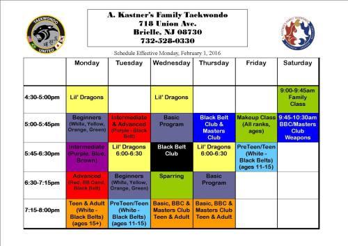 2015 TKD Schedule copy